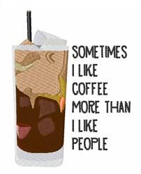 I Like Coffee embroidery design