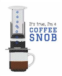 Coffee Snob embroidery design