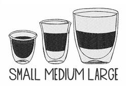 Small Medium Large embroidery design