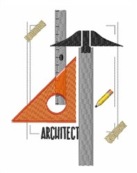 Architect embroidery design