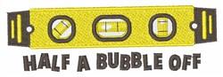 Bubble Off embroidery design