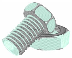 Nut & Bolt embroidery design