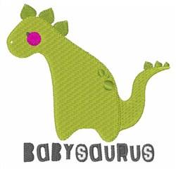 Cute Babysaurus embroidery design