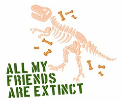 Extinct Friends embroidery design