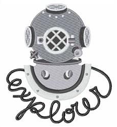 Explorer Diver Helmet embroidery design