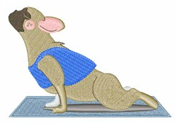 Yoga Dog embroidery design