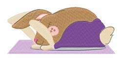 Yoga Bunny embroidery design