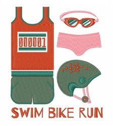 Swim Bike Run embroidery design