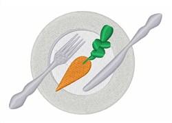 Carrot Dinner embroidery design