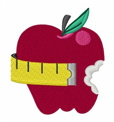 Apple Diet embroidery design