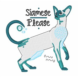 Siamese Please embroidery design