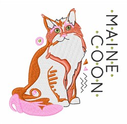 Maine Coon embroidery design