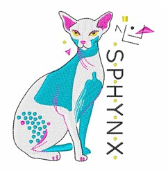 Sphynx embroidery design