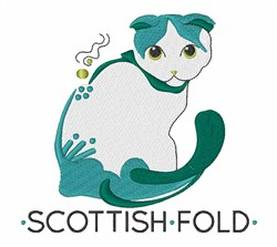 Scottish Fold embroidery design
