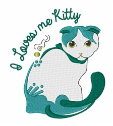 Loves Me Kitty embroidery design