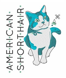 American Shorthair embroidery design