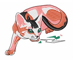 Abyssinian Cat embroidery design