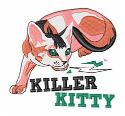 Killer Kitty embroidery design