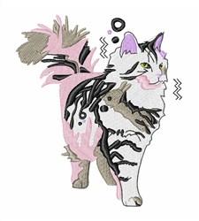 Siberian Cat embroidery design