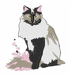 Norwegian Forest Cat embroidery design