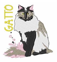Gato embroidery design