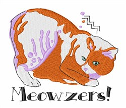Meowzers embroidery design