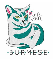Burmese embroidery design