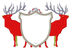 Stag Crest embroidery design