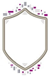 Crest Shield embroidery design