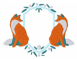 Fox Crest embroidery design
