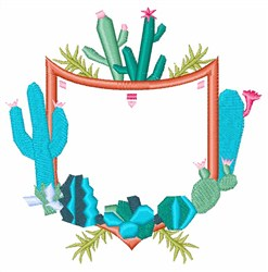 Cactus Crest embroidery design