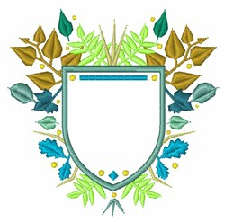 Leaf Crest embroidery design