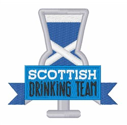 Scottish Drinking Team embroidery design