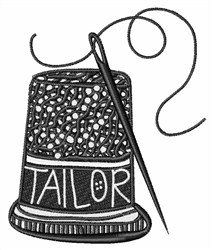 Tailor Thimble embroidery design
