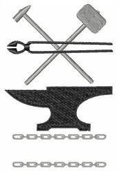 Blacksmith embroidery design