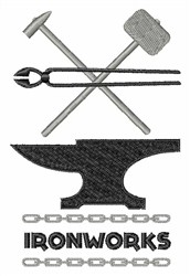 Ironworks embroidery design
