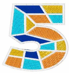 Mosaic Font 5 embroidery design