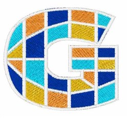 Mosaic Font G embroidery design
