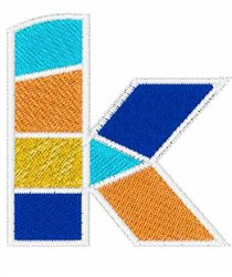 Mosaic Font k embroidery design