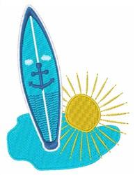 Surfboard Sun embroidery design