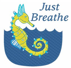 Just Breathe embroidery design