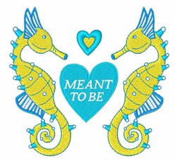 Meant to Be embroidery design