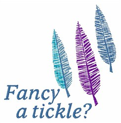 Fancy a Tickle embroidery design