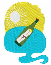 Note in a Bottle embroidery design