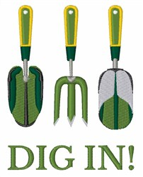Dig In embroidery design