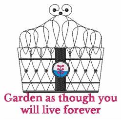 Live Forever embroidery design