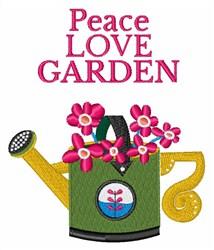 Peace Love Garden embroidery design