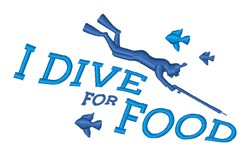 Dive For Food embroidery design