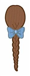Hair Braid embroidery design