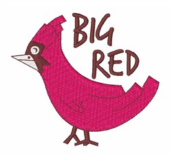 Big Red embroidery design
